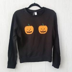NWOT H & M Playful Pumpkins Sweater Size XSmall